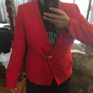 Calvin Klein Red blazer size 12